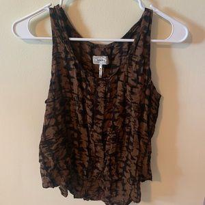 Kirra Brown & Black Tie Dye Look Tank-Md